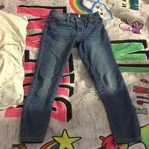 Blue skinny kids jeans